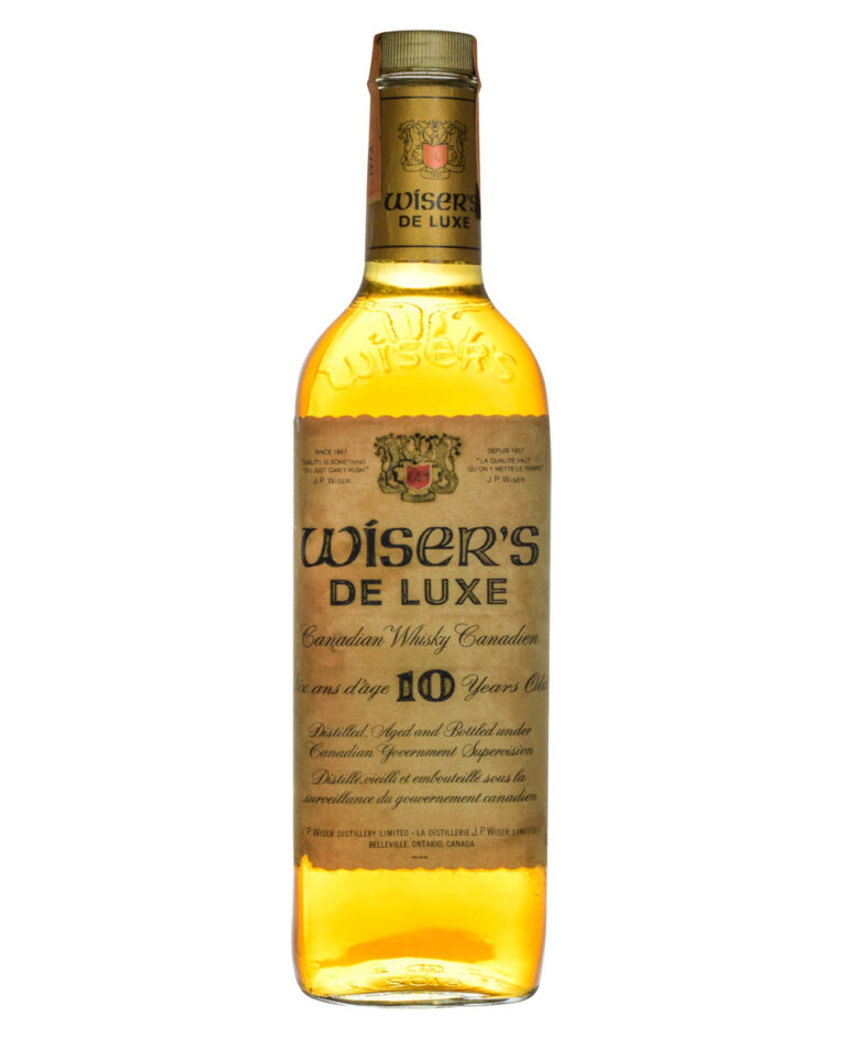 Wiser's De Luxe 10 Years Old Canadian Whisky Tax Strip 1973 Musthave Malts MHM